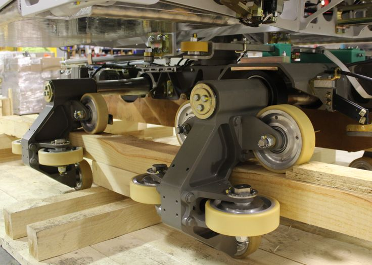#WMG Guide Wheels, Running Wheels and Upstop Wheels are being installed.