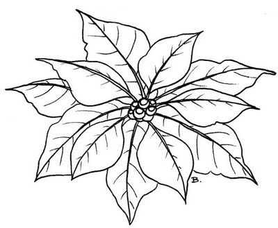 Poinsettia   Free Printable #2:
