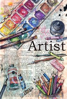 flying shoes art studio: artist - illustrated dictionary page