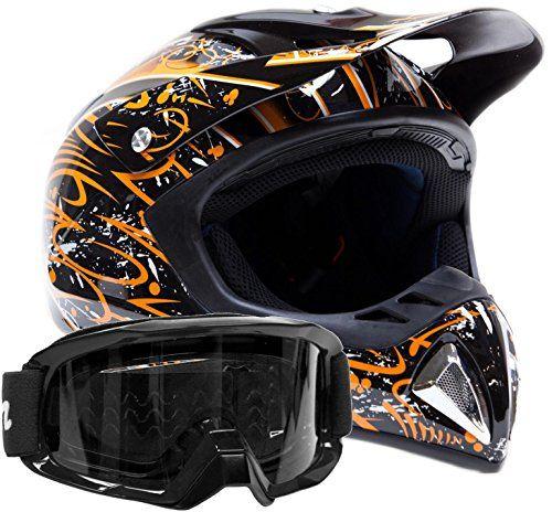 http://motorcyclespareparts.net/adult-off-road-helmet-goggles-gear-combo-black-orange-splatter-medium/Adult Off Road Helmet & Goggles Gear Combo Black Orange Splatter ( Medium )