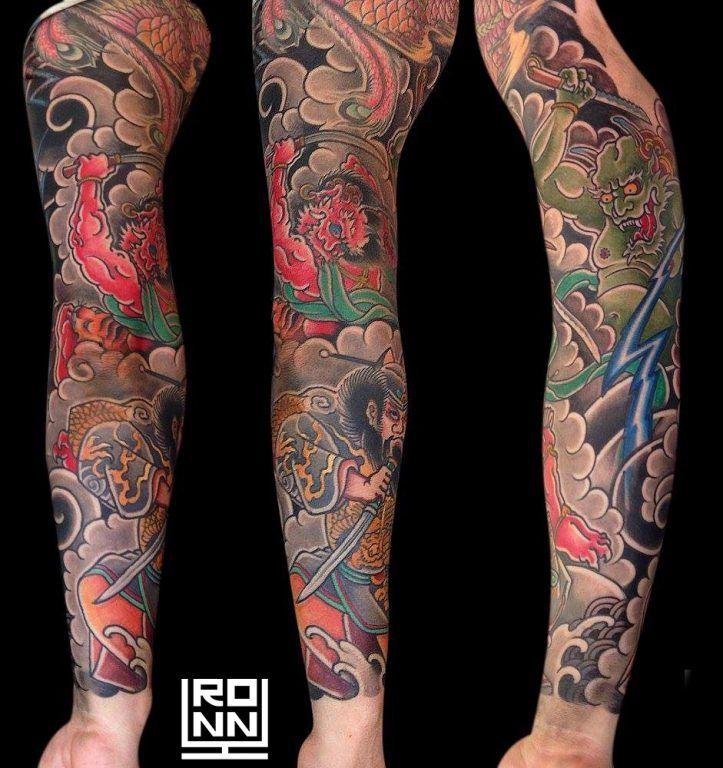 Tatuaje a color brazo entero #Tatuaje #TatuajeBrazo #TatuajeColor #TatuajeJapones #RonnyLee #Tattoo #JapaneseTattoo #DemonTattoo #ColorTattoo