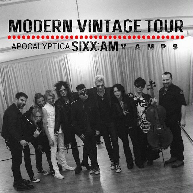 4/8/2015 #ModernVintage Tour: #SixxAM w/ #VAMPS and #Apocalyptica @Regency Ballroom #HYDE #KAZ #NikkiSixx #DjASHBA #JamesMichael #2015
