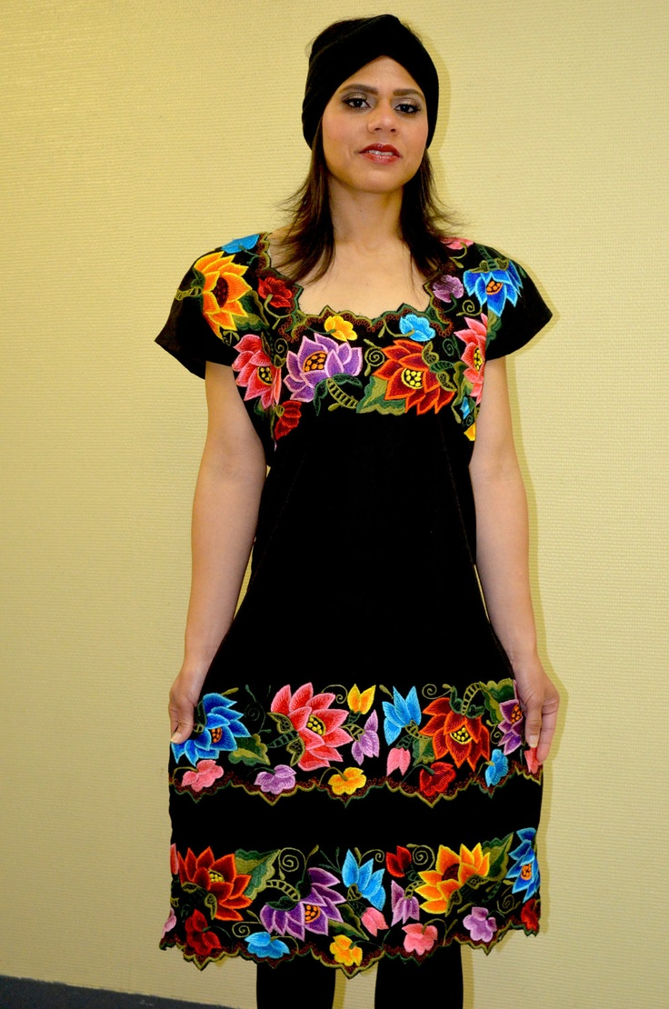 ✢ STYLE ✢ Viva Mexico |  Embroidered Dress / Huipil /  from Yucatan, Mexico.via Etsy.