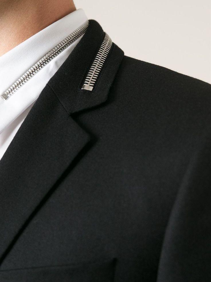 Givenchy Mens Zipper Poplin Shirt Givenchy Mens Zipper Collar Sportcoat