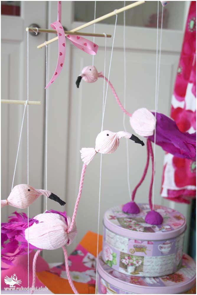Розовые фламинго из шоколадного яйца. Марионетки. Подарки к пасхе