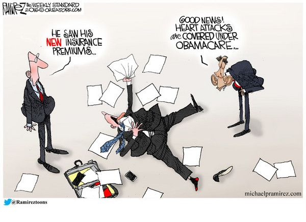 RealClearPolitics - Cartoons of the Week - Michael Ramirez for Nov 07, 2016 - Political Cartoons