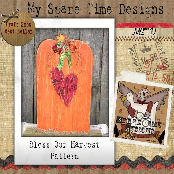 Wooden Pumpkin Pattern, Primitive Halloween Pattern, Primitive Fall Pattern,  Pumpkin and Heart, Primitive Pumpkin by MySpareTimeDesigns2 on Etsy
