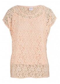 Peach Lace Top With Cami Pearl