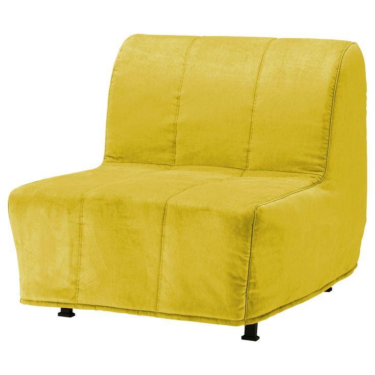 LYCKSELE LÖVÅS Chair bed - Henån yellow - IKEA