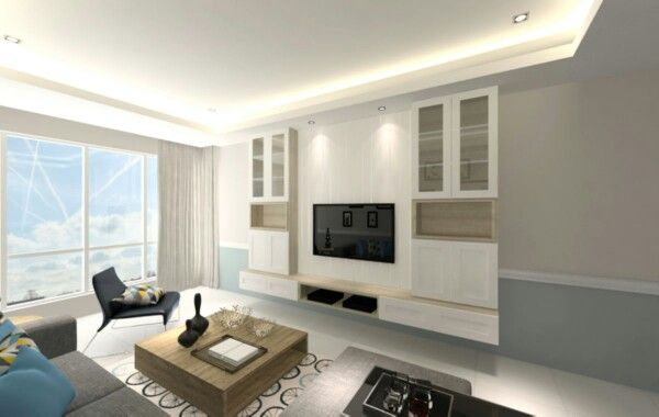 Wall plated mounted tv cabinets