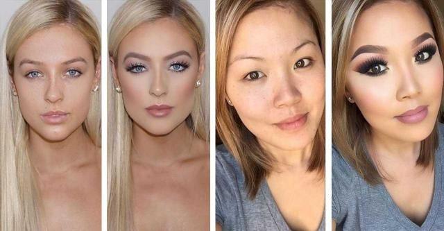 Te kobiety doświadczyły potężnej siły makijażu. Zobacz, jak się zmieniły!