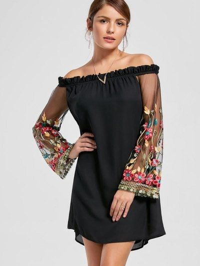 GET $50 NOW | Join Zaful: Get YOUR $50 NOW!https://m.zaful.com/embroidery-flare-sleeve-off-the-shoulder-dress-p_304901.html?seid=5456806zf304901