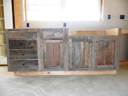 Barnwood Kitchen Cabinet Build Outdoor Ideas Pinterest