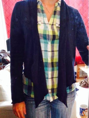 Mijn eerste zelfgemaakte kledingstuk! Een tricot vestje, uit de knipmode.