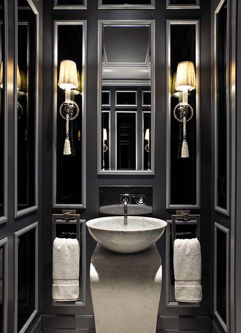 Black Luxury Bathrooms 144 best beautiful powder rooms images on pinterest | bathroom