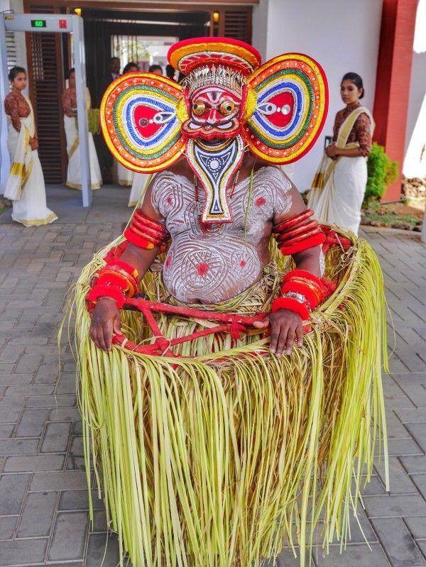 Traditional Theyyam dance at Vythri Village Resort Wayanad, Kerala India thesweetwanderlust.com