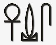 """Life! Prosperity! Health! (Pronounced like """"Ankh"""" - """"Wedja"""" - """"Seneb"""", and was used in reference to the royal family, similar to adding a brief prayer or blessing when talking about someone royal, like an honorifc. There were a few other versions, used with the Ankh symbols)"""