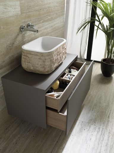 Soft Collection: Minimalist beauty & technological finishes in the new modular bathroom furniture by Gamadecor