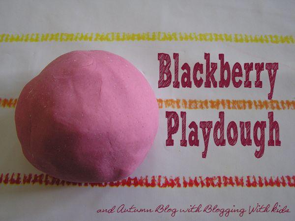 Homemade Blackberry Playdough