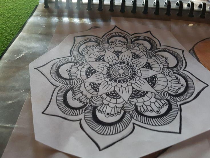 Mandala tattoo drawing free hand