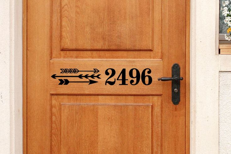 Custom House Number Vinyl Door Decal - Address Decals, Home Office Decor, Custom House Number Vinyl Decals, Vinyl Numbers 12.5-25x3.25 by TheVinylCompany on Etsy