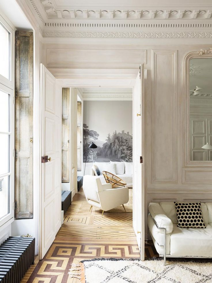 Nature S Touch In A French Pied A Terre With Images Parisian
