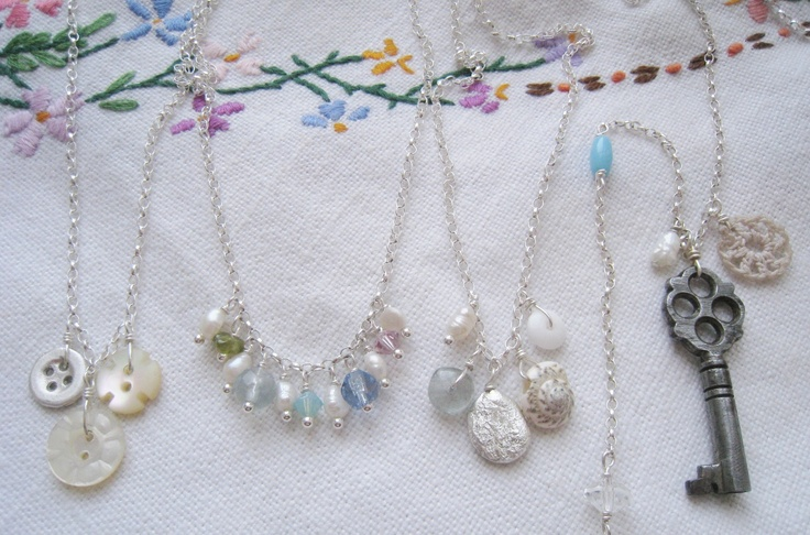 Love the little button necklaces, she makes these in silver that are adorable.