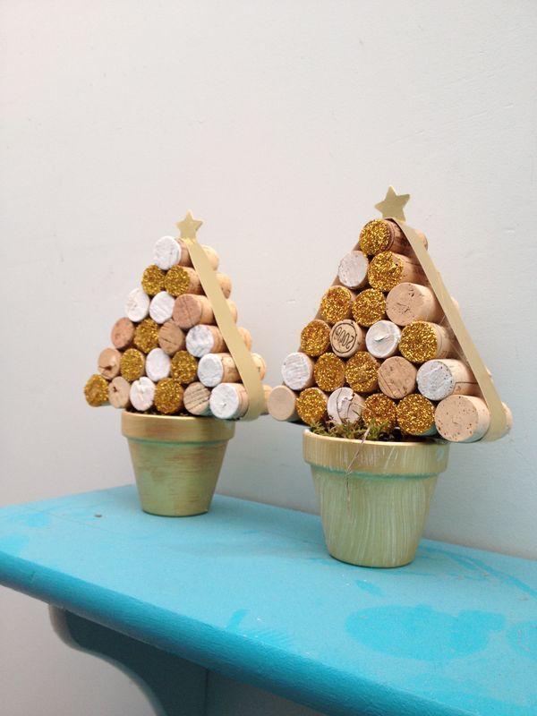 Kerstboom met kurk