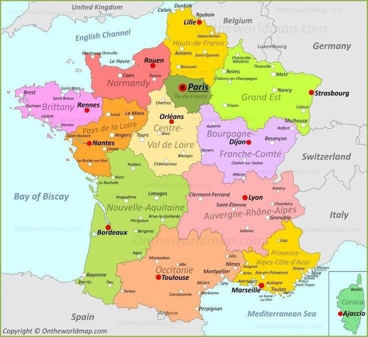 France Map France Map Where Is France France Europe