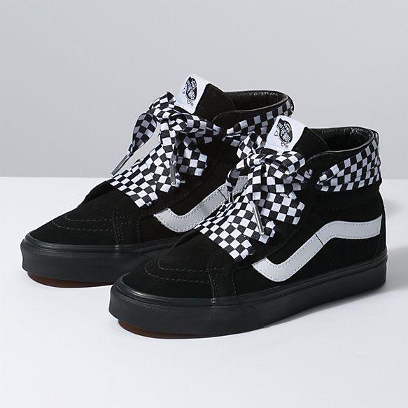 7202fc40c2 Check Wrap Sk8-Hi Alt Lace Top Shoes