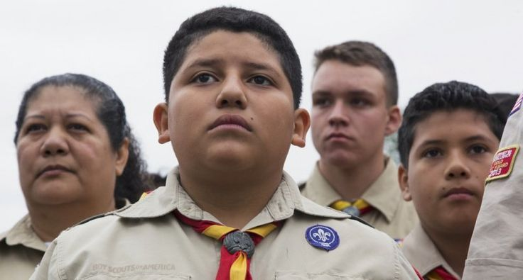 President Donald Trump on Monday night gave a highly politicized speech to the annual Boy Scout Jamboree in which he bragged about his election victory, lashed out at the news media, and got thousa…