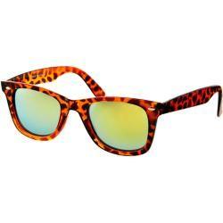 Gafas de sol estilo wayfarer con lentes de espejo en color verde de ASOS