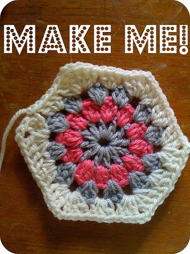 tutorial crochet hexagon