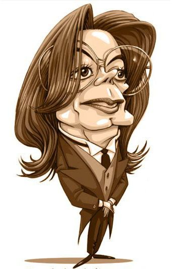 Indian celebrity caricatures drawings