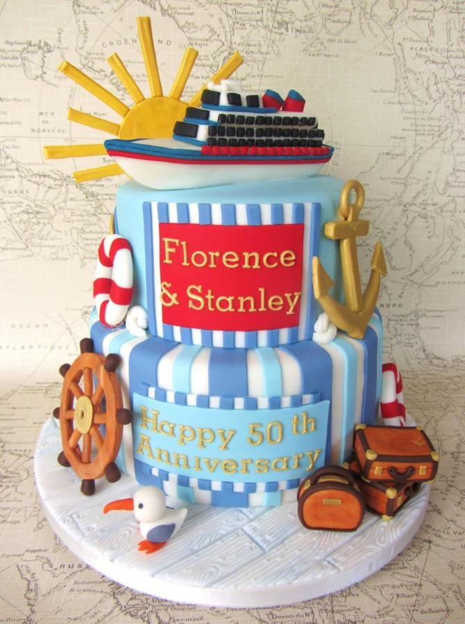 Nautical Cruise Cake - Cake by Noreen@ Box Hill Bespoke Cakes
