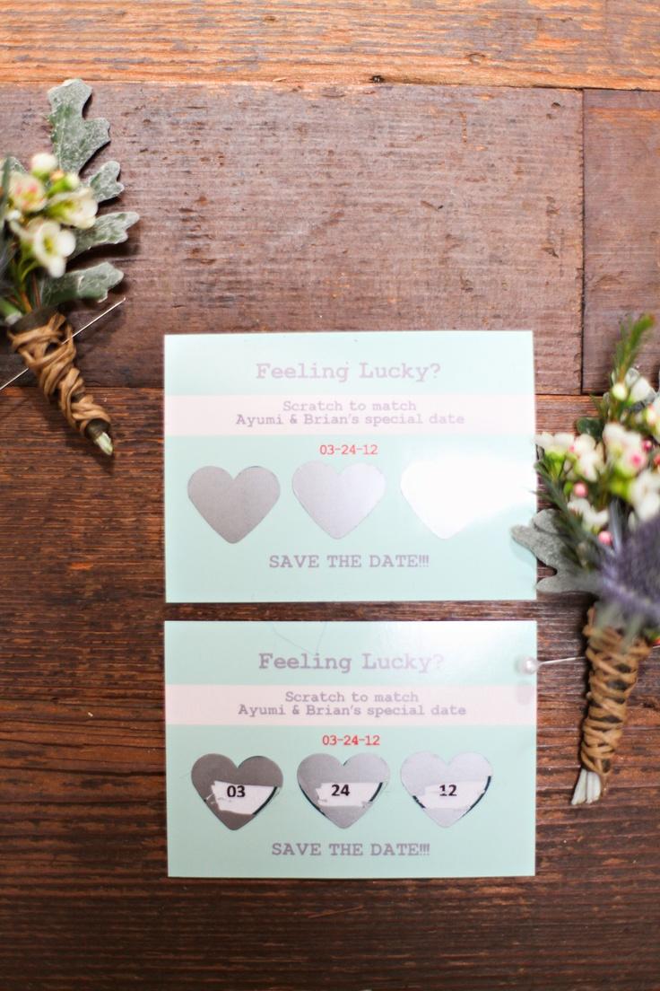 DIY save the date 結婚式の招待状で楽しくサプライズ!銀はがし