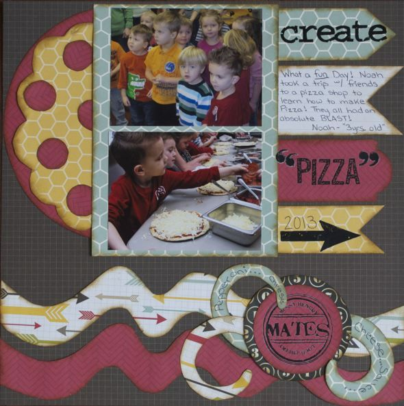 Kiwi Lane Designs 2-Page Pizza Layout.