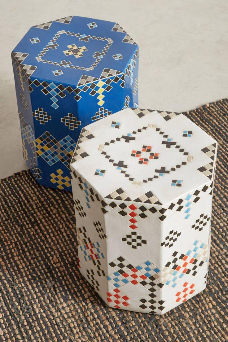 Slide View: 3: Moussem Ceramic Stool - living room