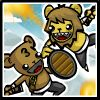 Starfall Bearbarians - Fight as 4 different classes, give orders, level up and unlock 30 hats, 30 weapons and 20 pieces of armor to change your stats and appearance in this 2D arena battle game! Starfall Play
