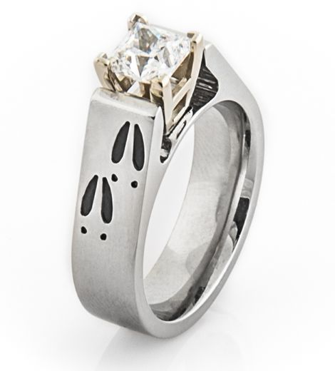 deer track engagement ring deer track and engagement rings