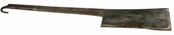 Butcher's cleaver, Whitehouse, Cornelius & Sons., circa 1900. Possibly used in the kitchen of a Victorian psychiatric hospital 1840-1950.  Collection: Museum Victoria    Orrrrr it was used to chop up dead bodies lol