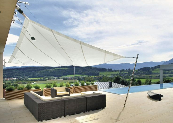 Shade Sail Blinds Meld Function And Form To Deliver An Exciting Alternative  To Traditional Conservatory Blinds And Internal Shading.