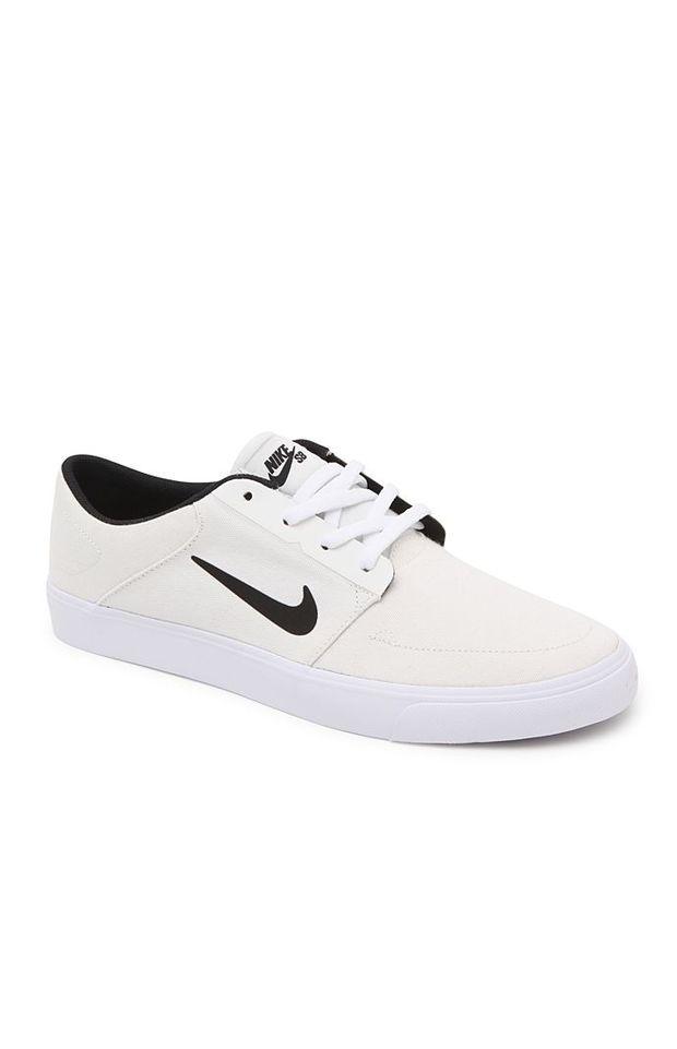 Nike SB Portmore Canvas Shoes - Mens Shoes - White | Canvas shoes ...