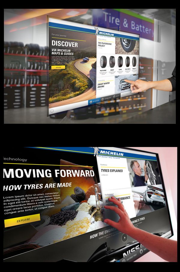 Michelin Dealership Touchscreen by Thomas Moeller, via Behance