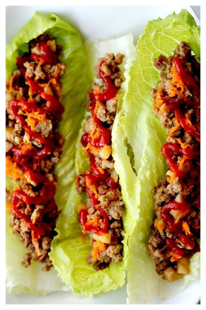 These Sesame Turkey Lettuce Wraps were so quick and easy to make, even my kids loved them!! This is now my go-to lettuce wraps recipe! The adults added a little sriracha to spice things up a bit! Yum! | www.OurLittleEverything.com
