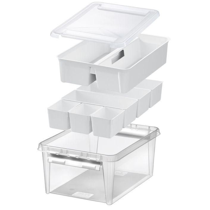 Lådor/Smart Store Home 7 insatser/plastbackar/förvaring/ordning och reda/ heminredning/Förvara.se