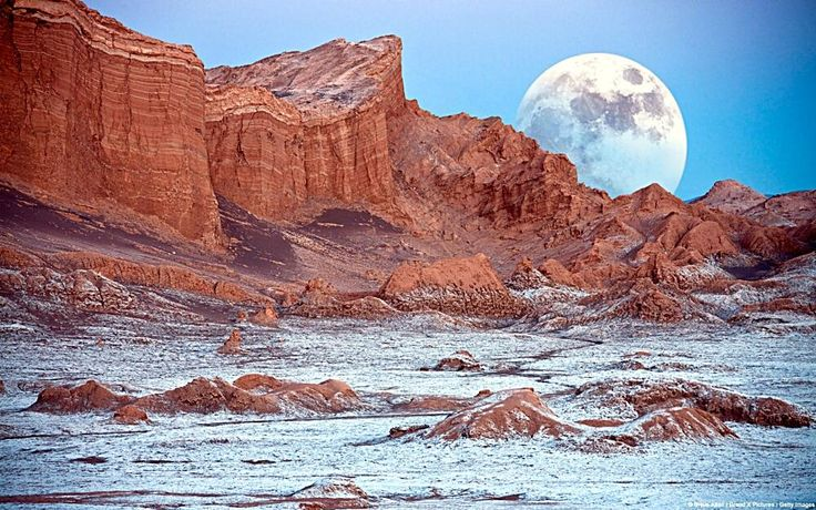 The Valley of the Moon (Valle de la Luna), Cordillera de la Sal, Atacama Desert, northern Chile.