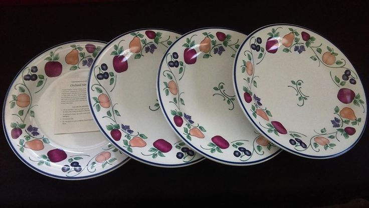 New RETIRED Princess House Orchard Medley Dishes - Plates (Set of 4) Item 264 & 31 best Princess House Dishes u0026 More images on Pinterest ...