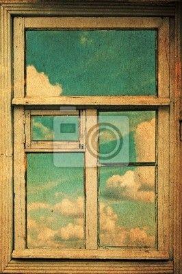 Fotobehang trompe l'oeil venster 100x150cm €50