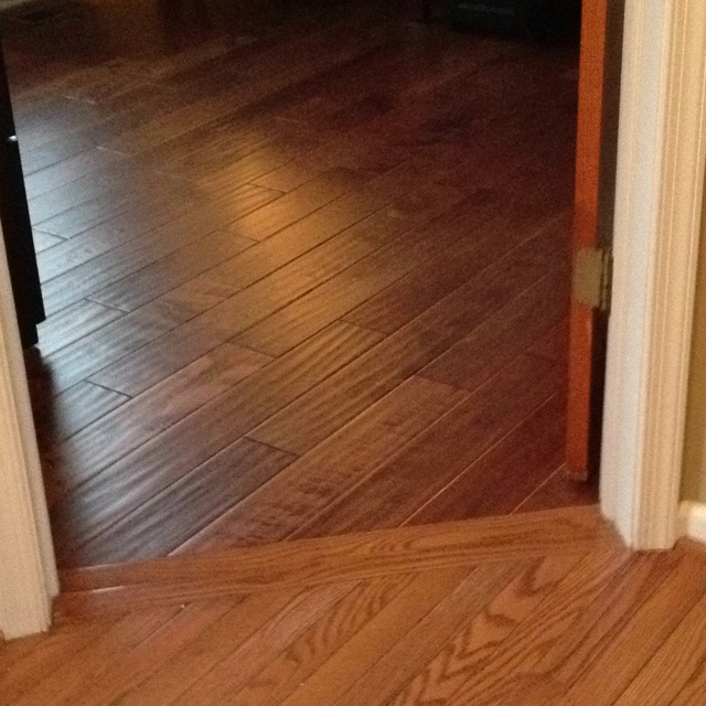 Pictures of wood floors in kitchens elegant toorak for Different flooring throughout house